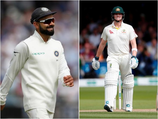 Virat Kohli (L) and Steve Smith (R)