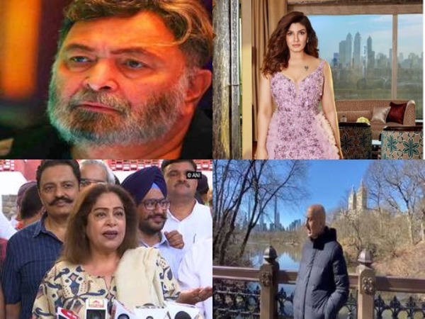 Actors Rishi Kapoor, Raveena Tandon, Kirron Kher and Anupam Kher (file and Instagram)