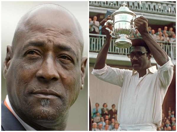 Vivian Richards (L) and Clive Lloyd with maiden World Cup trophy (R). (Photo/Vivian Richards Twitter)