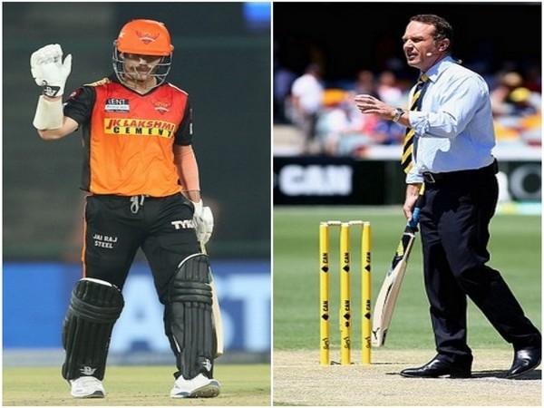 SRH skipper David Warner (Photo/ IPL Twitter) and Michael Slater (Image: ICC)