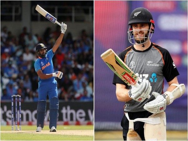 Rohit Sharma (L) and Kane Williamson (R)
