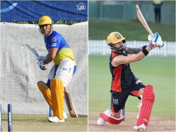 MS Dhoni and Virat Kohli (Photo/CSK, RCB Twitter)