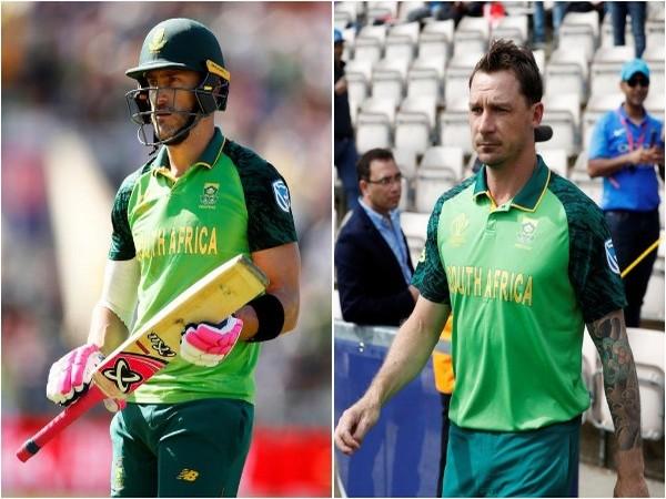 Faf du Plessis (L) and Dale Steyn (R)