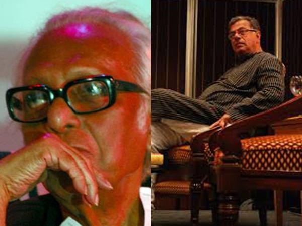 Late Indian filmmakers Mrinal Sen and Girish Karnad