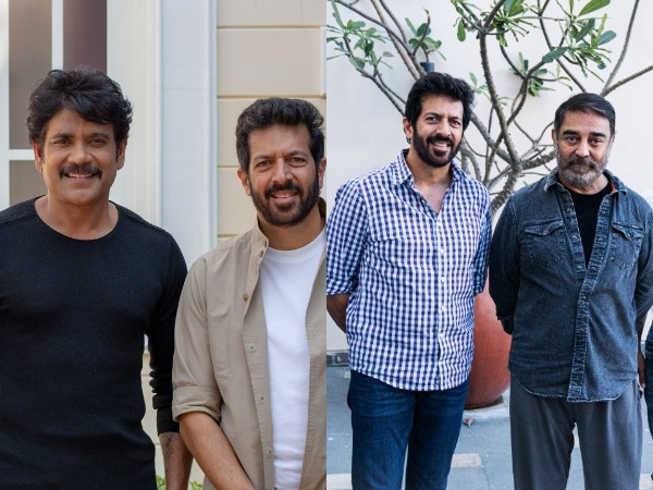 Telugu star Akkineni Nagarjun, director Kabir Khan, and Kamal Haasan (Image source: Twitter)