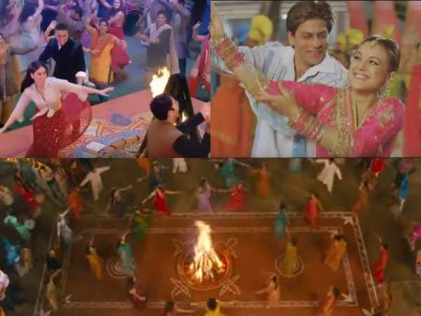 Stills from Lohri-themed Bollywood songs (Image Source: Youtube)