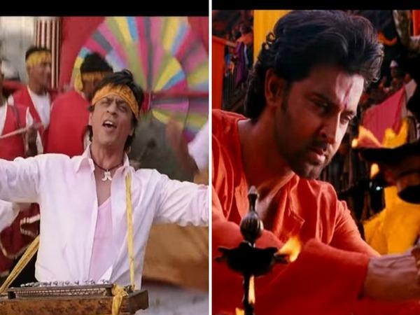 Shah Rukh Khan in a still from 'Mourya Re', Hrithik Roshan in a still from 'Deva Shree Ganesha' Image courtesy: YouTube