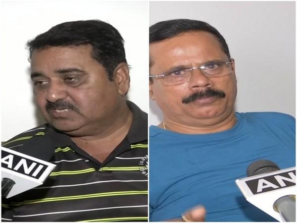 (L-R) RajKumar Sharma (Virat's Kohli coach) and Dinesh Lad (Raohit Sharma's Coach)