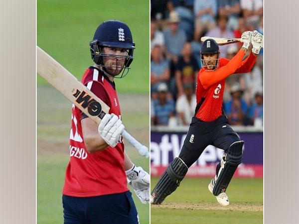 England batsmen Dawid Malan and Alex Hales