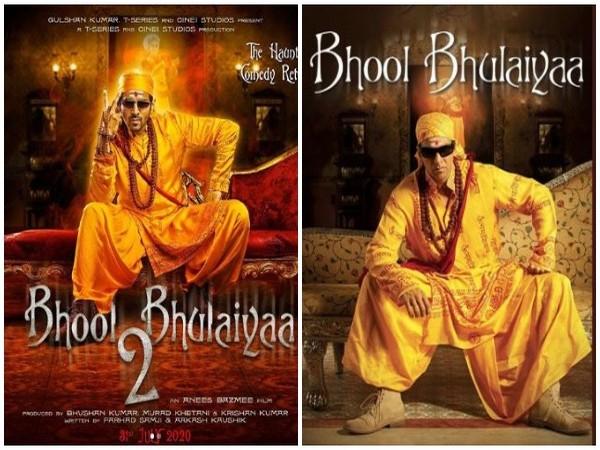 Poster of 'Bhool Bhulaiyaa' and 'Bhool Bhulaiyaa 2' (Image courtesy: Twitter)