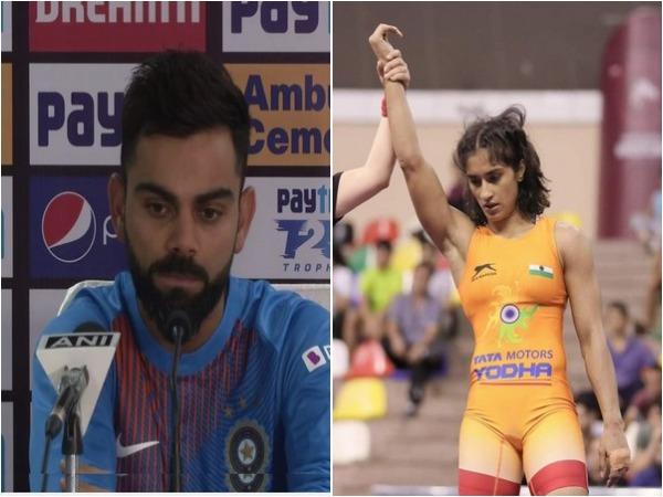 Virat Kohli and Vinesh Phogat
