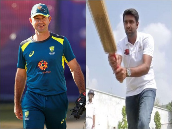 Ricky Ponting (L) and Ravichandran Ashwin (R)