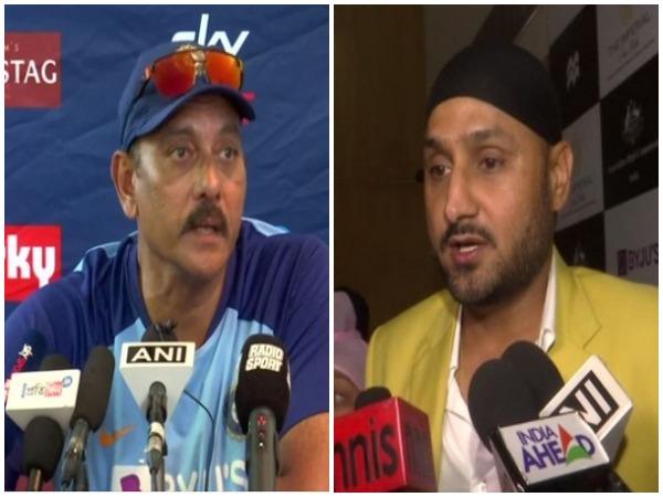 Ravi Shastri (L) and Harbhajan Singh (R)