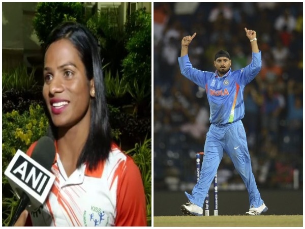 Dutee Chand (L) and Harbhajan Singh (R)