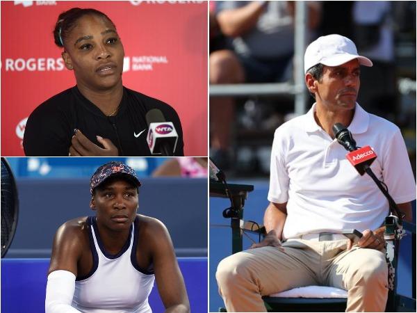 Serena Williams, Venus Williams and Carlos Ramos