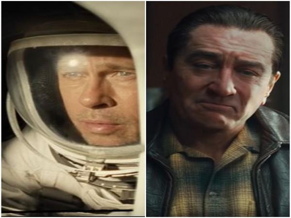 Brad Pitt in 'Ad Astra';  Robert DeNiro in 'The Irishman'
