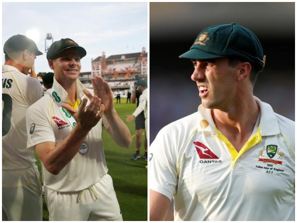 Australia batsman Steve Smith (L) and pacer Pat Cummins (R)