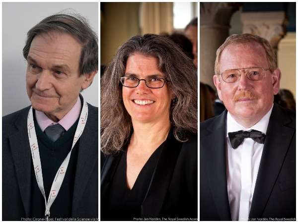 Nobel Prize in Physics 2020 laureates Roger Penrose, Reinhard Genzel and  Andrea Ghez (Photo Credits: The Nobel Prize Twitter)