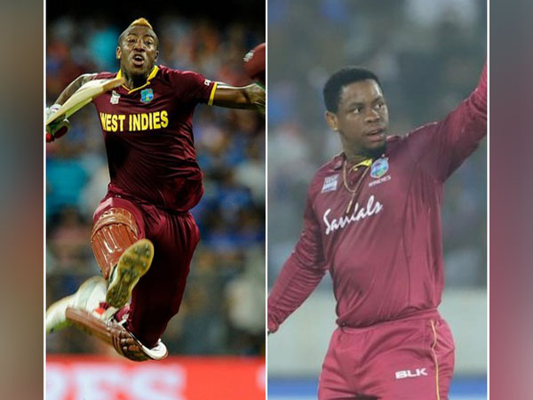 Andre Russell and Shimron Hetmyer (Image: ICC)