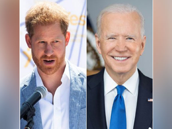 Prince Harry and US President Joe Biden