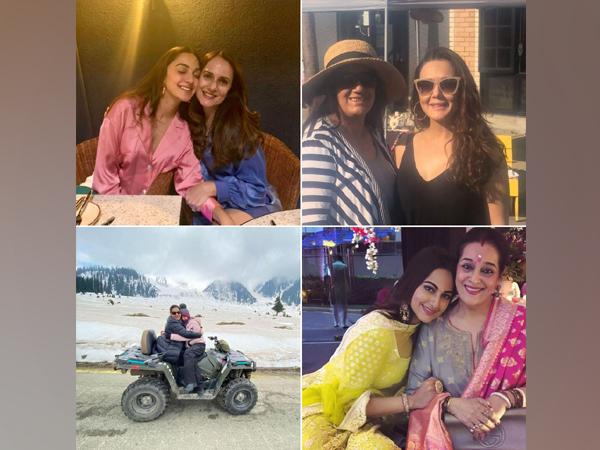 Kiara Advani, Preity Zinta, Sara Ali Khan and Sonakshi Sinha with their mothers (Image Source: Instagram)