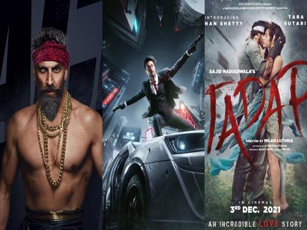 Poster of 'Bachchan Pandey', 'Heropanti 2', 'Tadap'