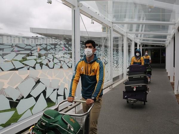 Pakistan squad arrive in Christchurch (Image: Pakistan Cricket's Twitter)