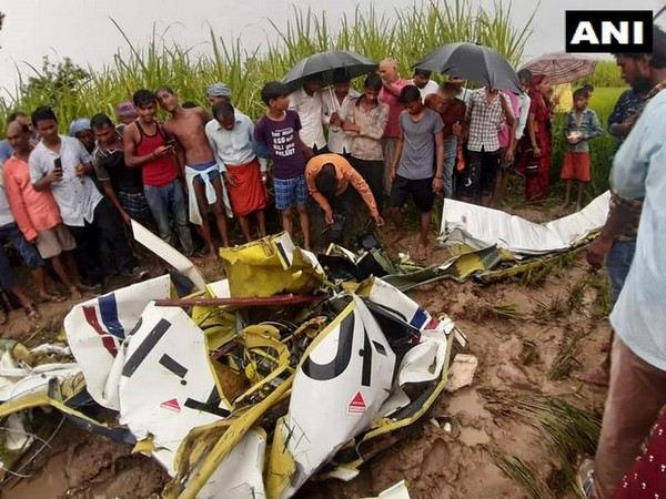 A visual from the plane crash site. Photo/ANI.