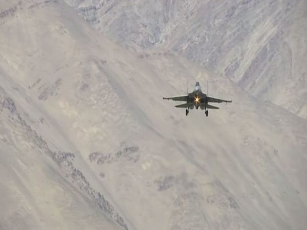 IAF fighter aircraft operating from an forward airbase near India China border