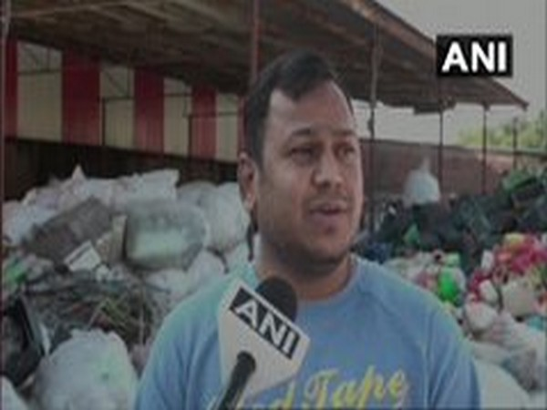 Jatinder Bagaria, owner of Kunal Plastic Industries speaking to ANI. Photo/ANI