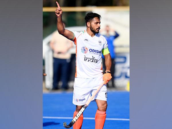 Harmanpreet celebrates after scoring goal (Photo/ Hockey India)