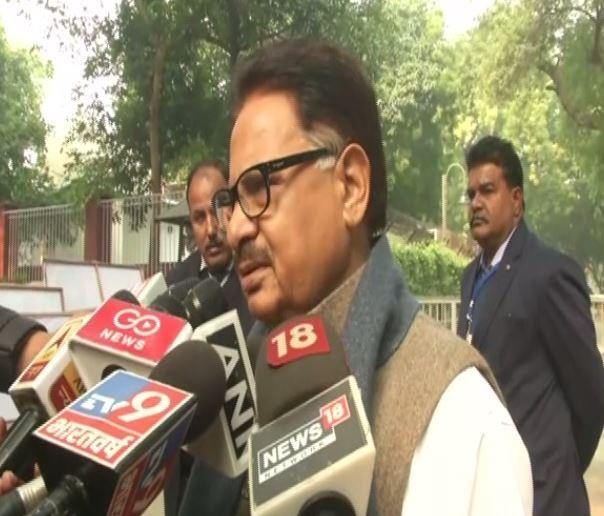 Congress leader PL Punia talking to media in New Delhi on Saturday