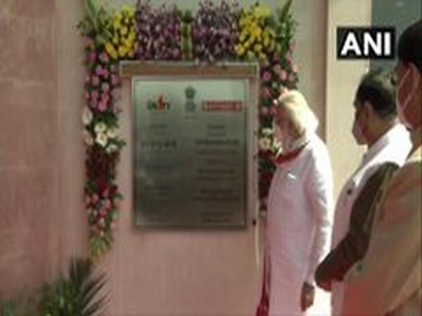 Prime Minister Narendra Modi in Kevadia, Gujarat on Friday.  [Photo/ANI]