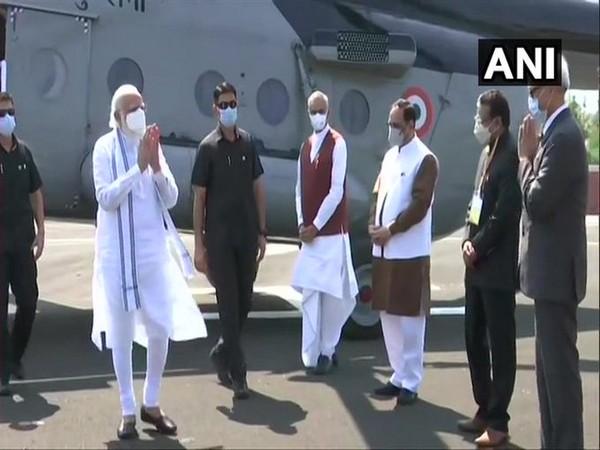 Prime Minister Narendra Modi at Kevadia, Narmada on Friday. [Photo/ANI]