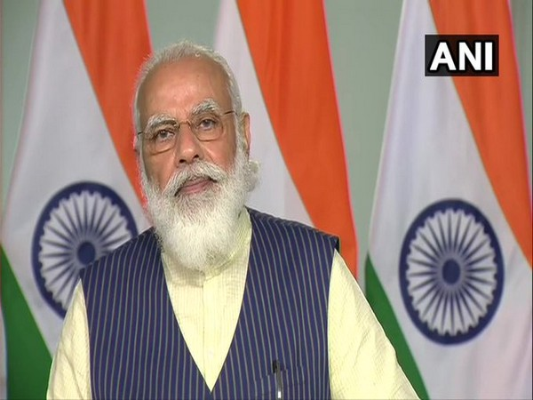 Prime Minister Narendra Modi speaking at the video conference on Monday.