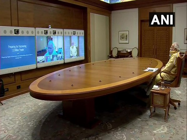 Prime Minister Narendra Modi attending the meeting on Tuesday.