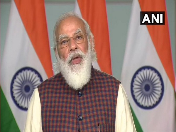 Prime Minister Narendra Modi speaking at the virtual meeting on Thursday.