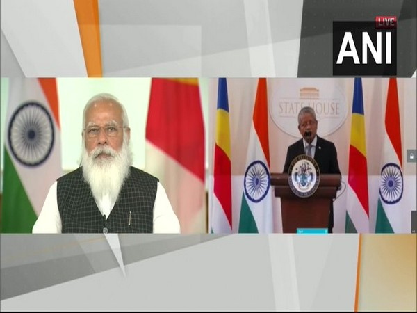 Prime Minister Narendra Modi holds a high-level virtual event with the President of Seychelles, Wavel Ramkalawan.