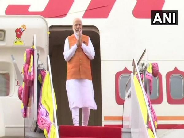 Prime Minister Narendra Modi arrives in Bangkok on Saturday. Photo/ANI