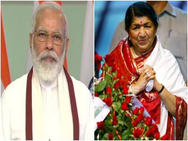 Prime Minister Narendra Modi and Lata Mangeshkar (File photo/ANI)