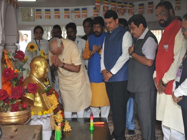 Prime Minister Narendra Modi paying tribute to B R Ambedkar. (Photo Credit: PM Narendra Modi)
