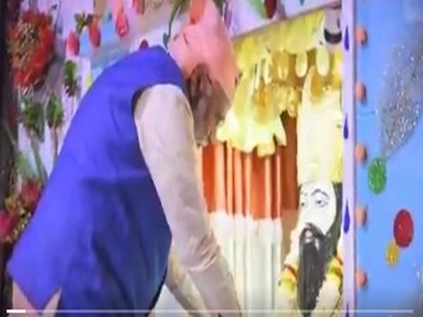 A grab of the video posted by PM Narendra Modi on Sant Ravidas birth anniversary [Photo/ANI]