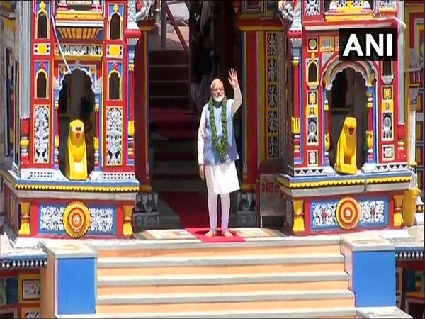 Prime Minister Narendra Modi after offering prayers at Badrinath Temple in Uttarakhand.