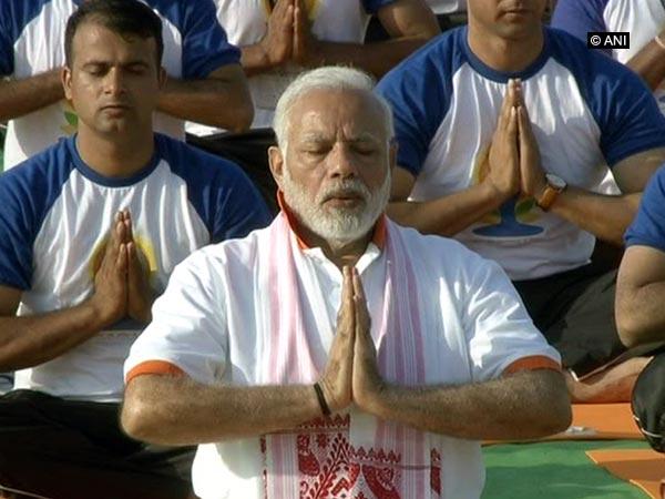Prime Minister Narendra Modi during 2018 International Day celebration at Dehradun, Photo/ANI