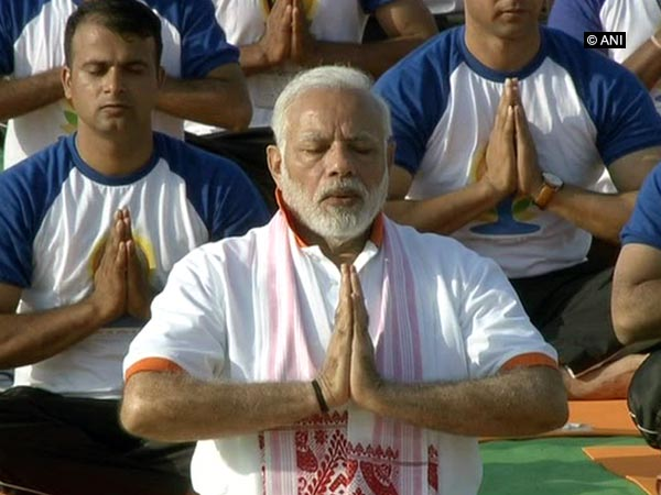 Prime Minister Narendra Modi during the 2018 International Day of Yoga celebrations in Dehradun (Photo/ANI)