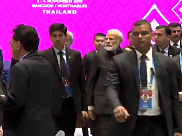 Prime Minister Narendra Modi arriving at the special lunch a special lunch at the RCEP summit here on Monday
