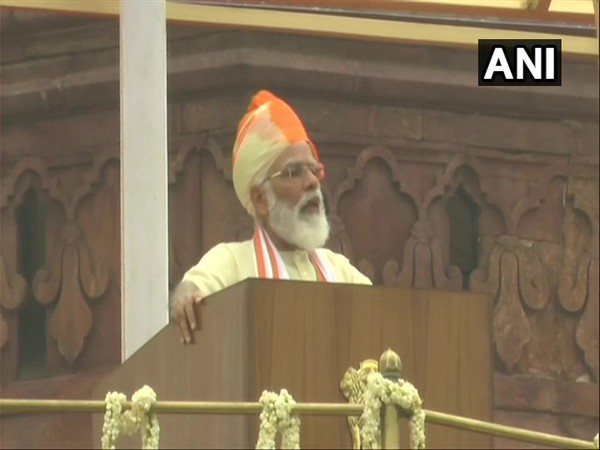 PM Narendra Modiaddressing the country's 74th Independence Day on Saturday. (Photo: ANI)
