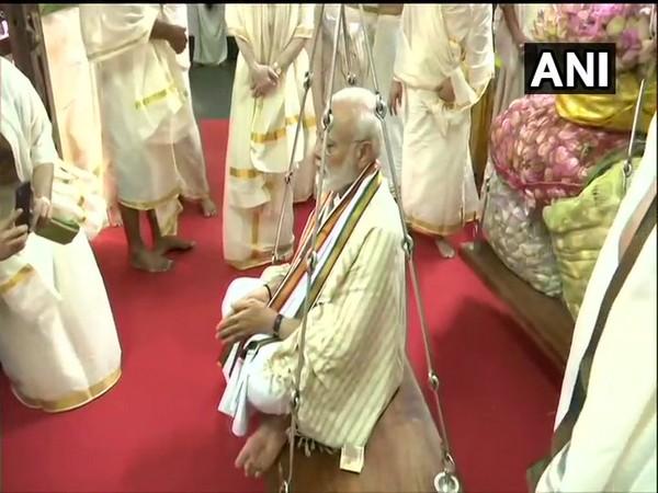 PM Modi visited Sri Krishna TempleinGuruvayur on Saturday