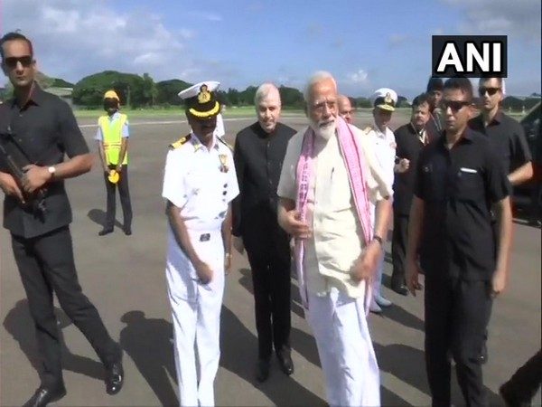 PM Modi arrived at Thrissur on Saturday