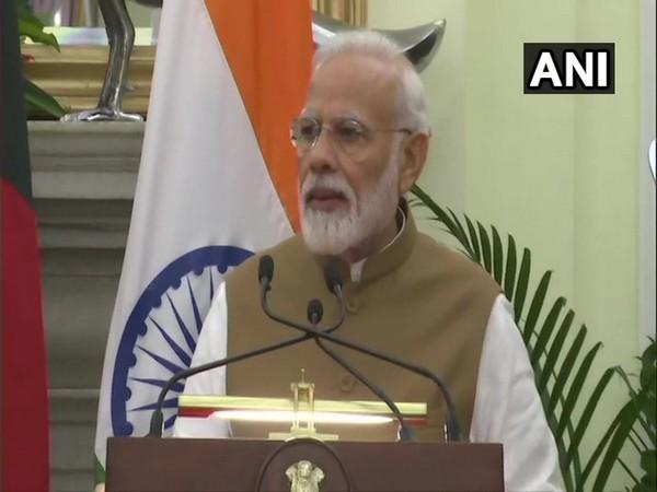 Prime Minister Narendra Modi addressing the media in New Delhi on Saturday.
